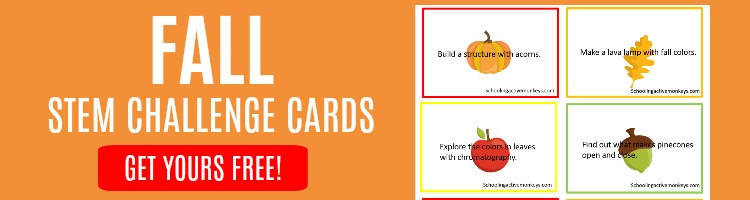 fall stem challenge cards