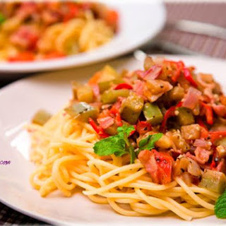 Spicy Eggplant Spaghetti