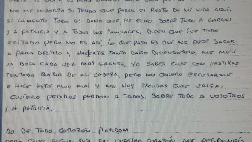 Ana Julia envió una carta para pedir perdón a Ángel Cruz