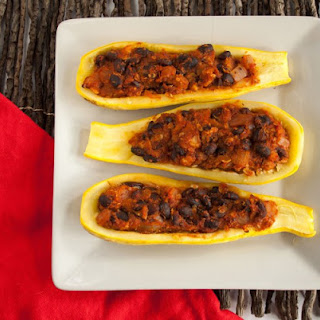 Stuffed Summer Squash Boats.