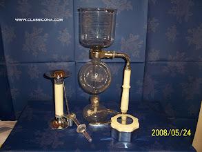 Photo: CONA COFFEE MAKER SET No ll FUNNEL STAND COFFEE TIN CIRCA 1940-1950`S.