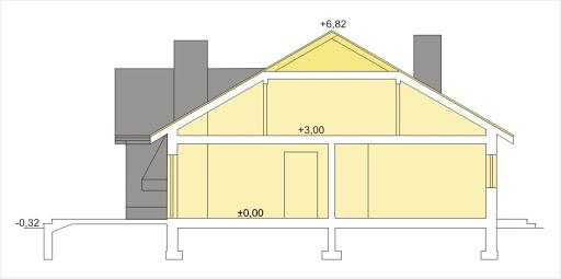 Agatka wersja B dach 32 stopnie - Przekrój