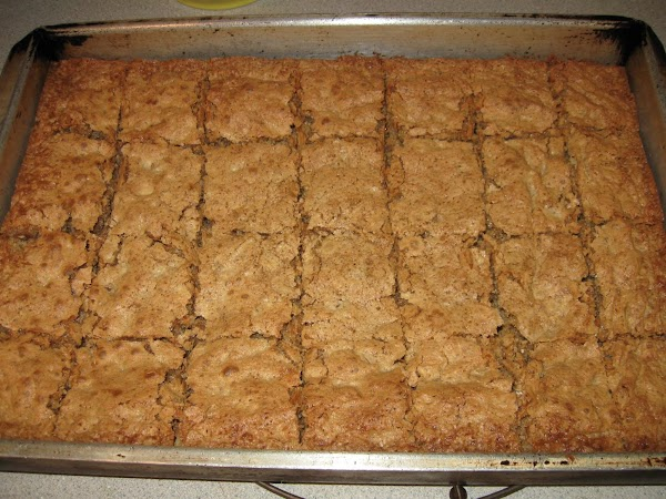 Pour into a greased 9x13 pan (I use a metal pan) and bake for...