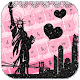 Pink New York City Rose Keyboard Theme (app)