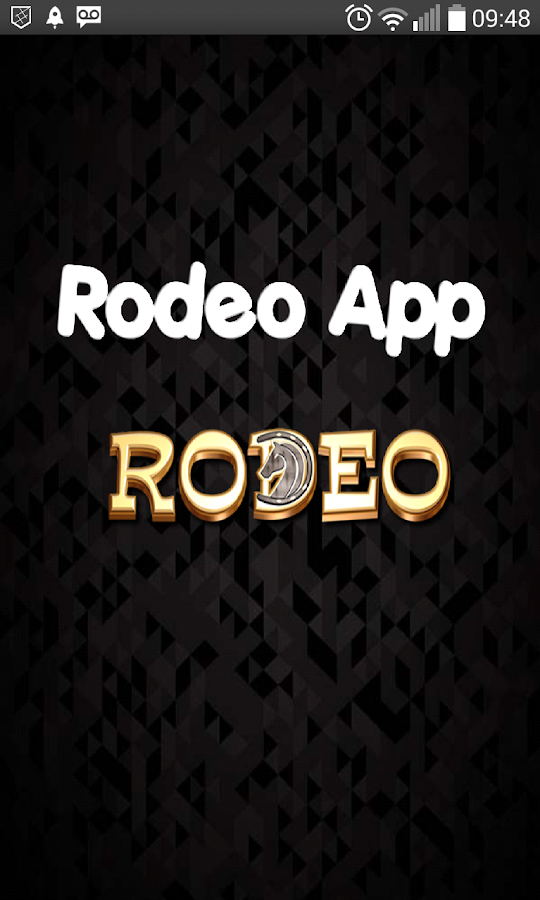 Rodeo App: captura de tela