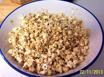 Carmel Peanut Butter  Pop-corn /w Spanish Peanuts Recipe
