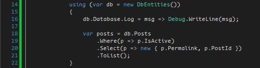 log select query