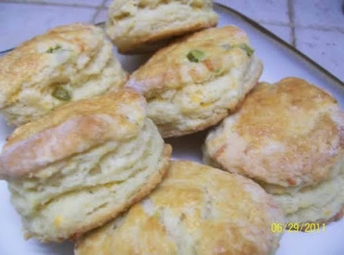 Jalapeno and Cheddar Biscuits (not your grandmother's biscuits)