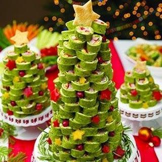 Ham Tortilla Rollup Christmas Tree