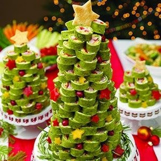 Ham Tortilla Rollup Christmas Tree.
