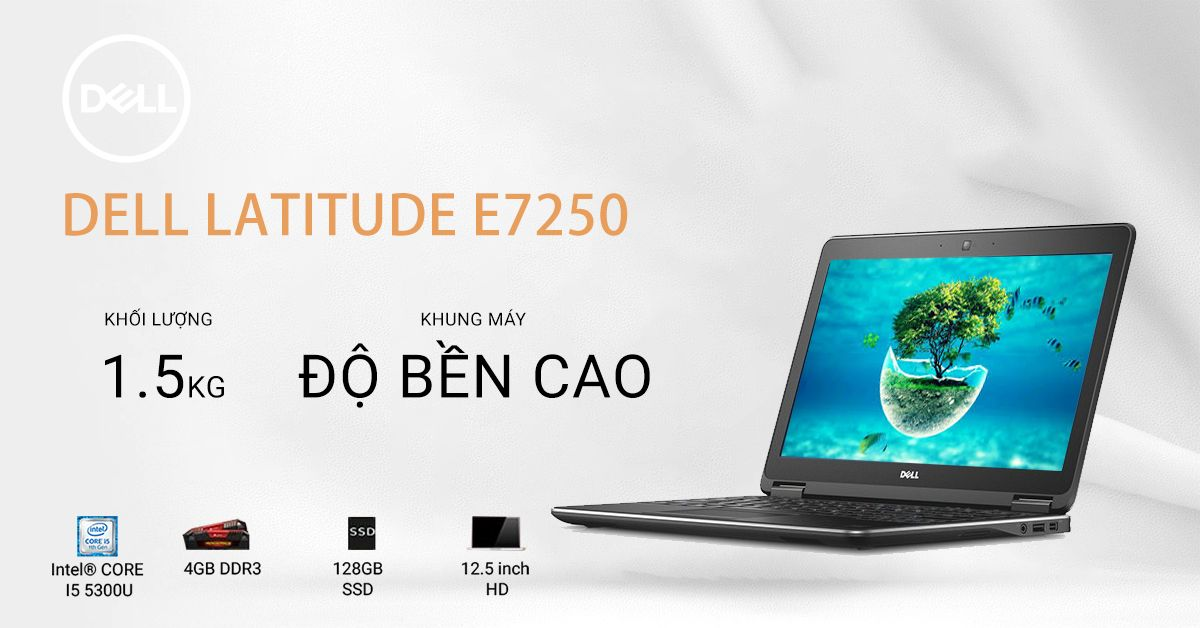 laptop cũ mỏng nhẹ dell latitude e7250
