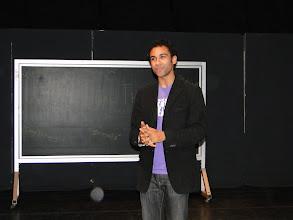 Photo: Keeshon Morrow, President of the Educational Theatre Club