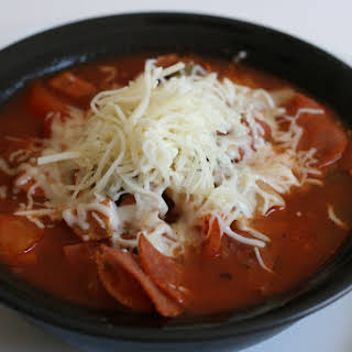 CrockPot Pizza Soup.