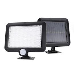 Lampa 56 LED cu alimentare solara, senzor lumina si senzor miscare