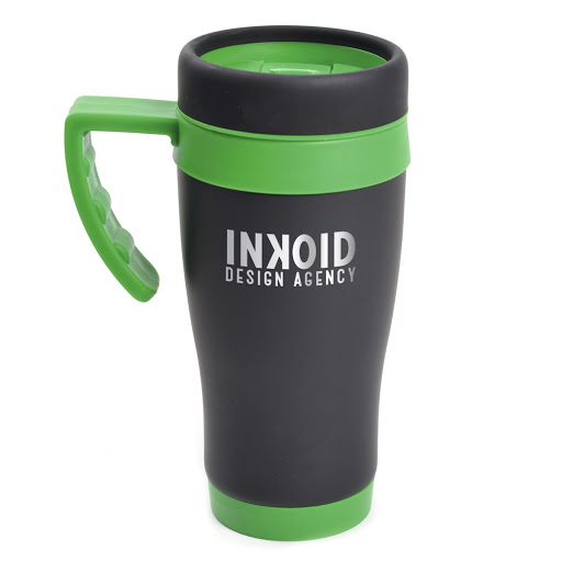 Travel Mug in Black Stainless Steel
