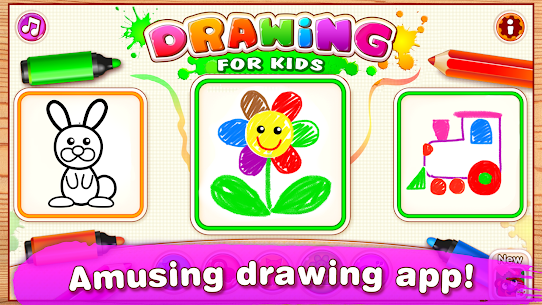 Drawing for Kids Learning Games for Toddlers age 3 Mod Apk Download For Android 1