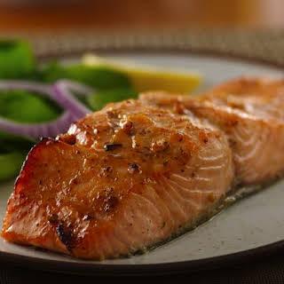 Honey Mustard Glazed Salmon.