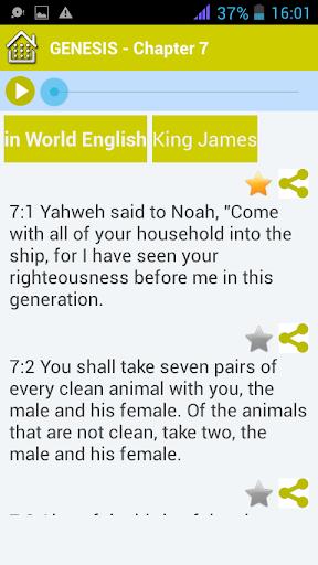 King James Audio Bible Free - KJV Audio Offline App Report