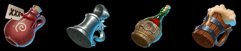 Finn's Golden Tavern symbols
