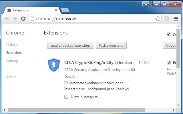CFCA CryptoKit.PingAnCity Extension