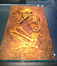 Photo: 1. The Dawn of Civilization.  Female and dog remains in grave.