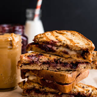 Grilled Peanut Butter and Jelly Sandwich with Brie.
