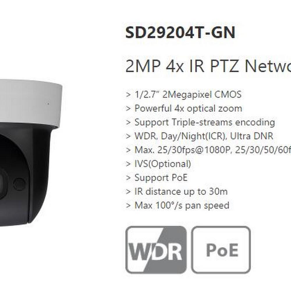 Dahua 2MP HD 4X Zoom Infrared PTZ