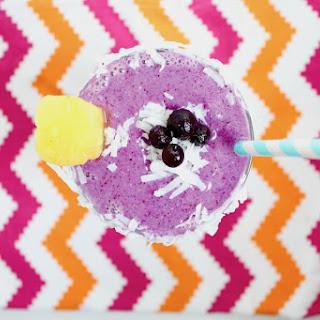Wild Blueberry Pina Colada Smoothie.