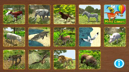 幼兒動物拼圖3D