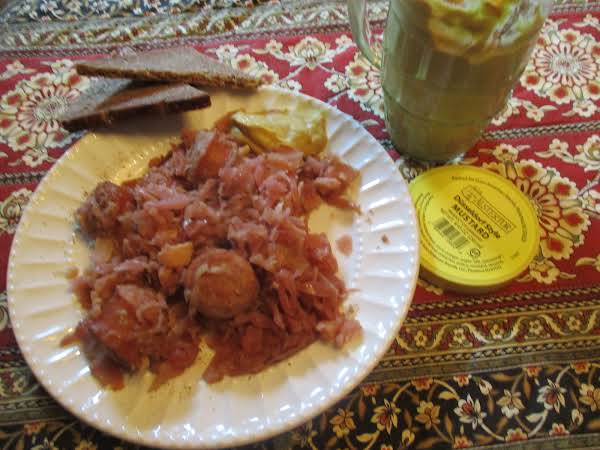 Olde Country Cabbage & Franks Recipe