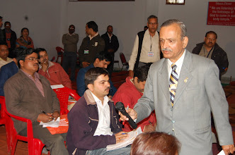 Photo: Vinod Tailang With Press
