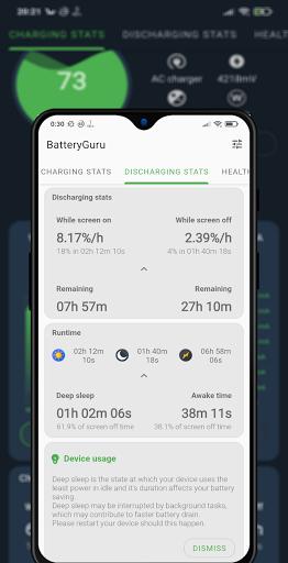 Battery Guru - Battery Monitor - Battery Saver screenshot 2