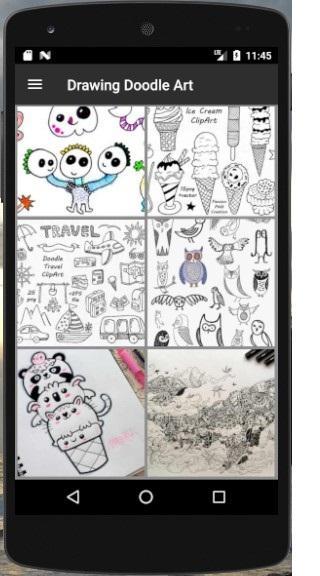 Скриншот Рисование Doodle Art