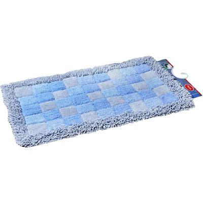 Коврик для ванной Fora Шахматы голубой 50х80 см