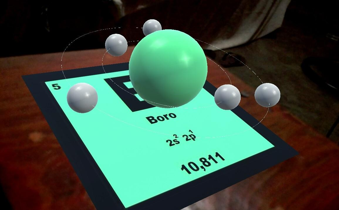 RApp Chemistry (A): AR- screenshot