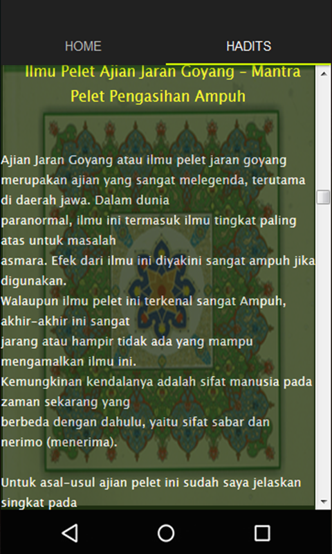 Mantra pelet jaran goyang android apps on google play mantra pelet jaran goyang screenshot stopboris Image collections
