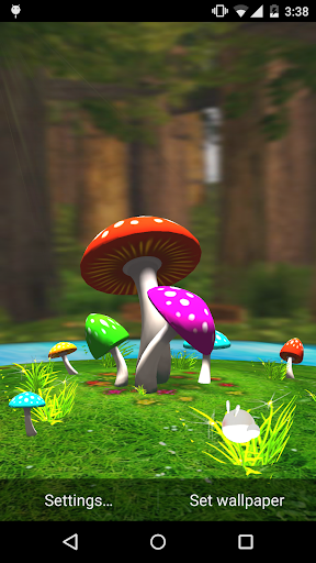 Mushroom 3D Live Wallpaper
