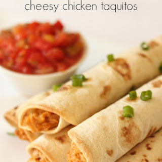 Slow Cooker Cheesy Chicken Taquitos.