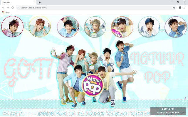 GOT7 New Tab & Wallpapers Collection