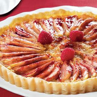 Raspberry-Almond-Pear Tart.