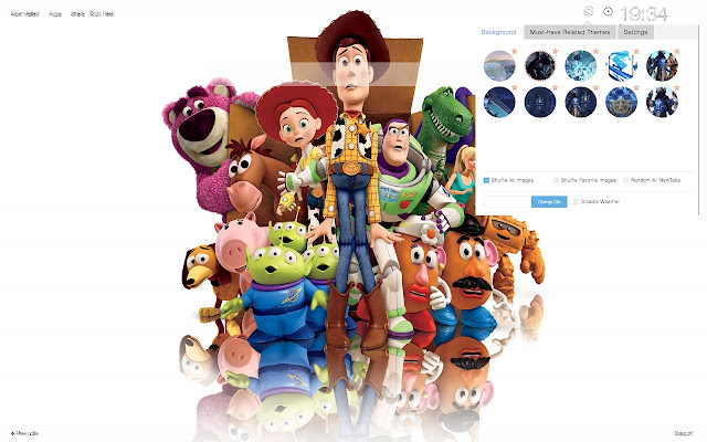 Toy Story - HD Wallpapers Theme