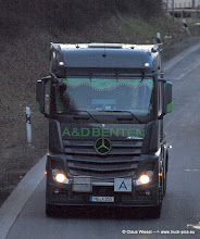 Photo: NEW ACTROS in the dark ----->   just take a look and enjoy www.truck-pics.eu
