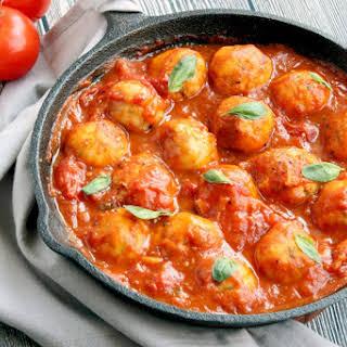 Sicilian Cod Meatballs in Tomato Sauce.