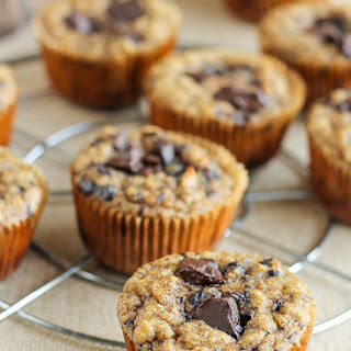 Paleo Almond Butter Banana Chocolate Chip Muffins