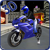 Pizza Delivery Bike Rider 3D