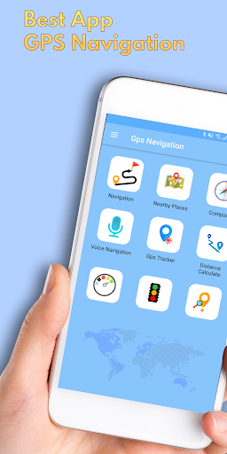 GPS Navigation Traffic Routes Finder App Report on Mobile