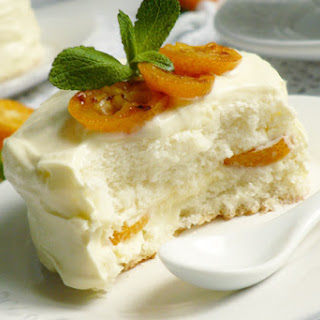 Angelic Sponge Cake With Kumquat Grill.