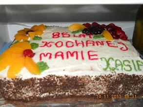 Photo: 11 XI 2013 roku - tort urodzinowy  Mamy