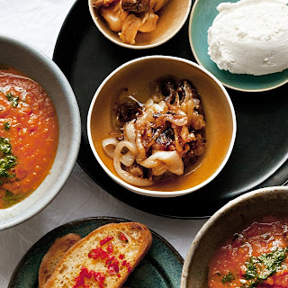 Nigel Slater's tomato soup with garnishes