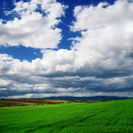 20130428-DSC_2476 by Zsolt Zsigmond - Landscapes Prairies, Meadows & Fields ( sky, green, nature, hills, clouds, landscape, meadow )